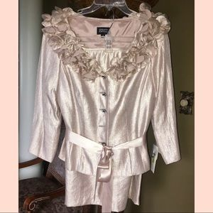 Adrianna Papell formal suit • blush size 12
